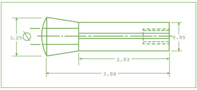 diagram of Centaur R8 Collets inche sizes